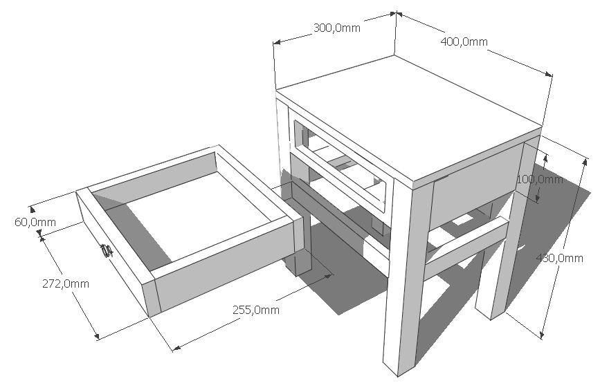 hocker schublade kosmonautin. Black Bedroom Furniture Sets. Home Design Ideas