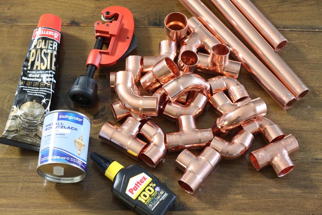 Kupferrohr Kerzenständer Materialien