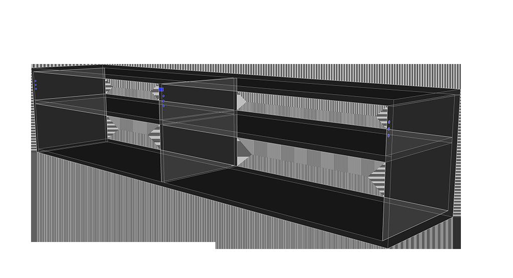 TV-Sideboard Aufhängung